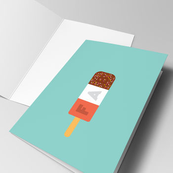 'You Are Fab' Ice Lolly Greeting Card