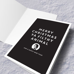 'Filthy Animal' Christmas Card - cards & wrap