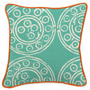 Mayenne Turquoise Harris Tweed Cushion Large Pattern