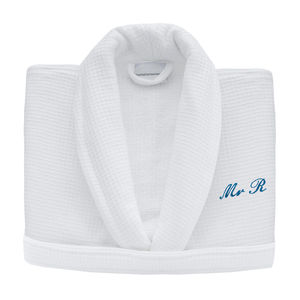 Personalised Embroidered Lined Waffle Bath Robe - home