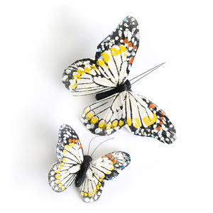 Pair Of Monarch Butterfly Hair Clips