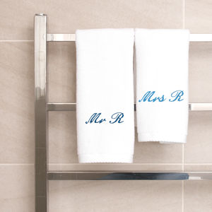 Personalised Set Of Two Guest Towels