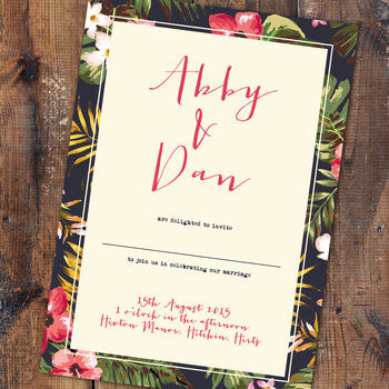 Tropicana Wedding Invitation And Stationery
