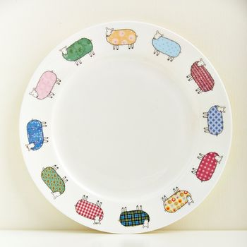 Colourful Sheep Plate