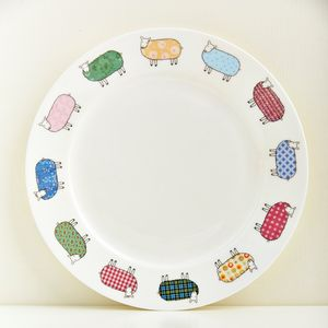 Colourful Sheep Plate - plates