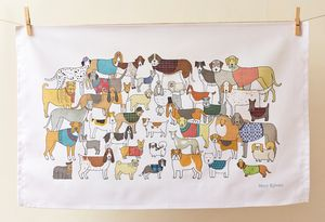 Pack Of Proud Pooches Tea Towel