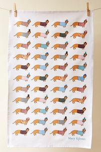 Larry The Long Dog Tea Towel - kitchen accessories
