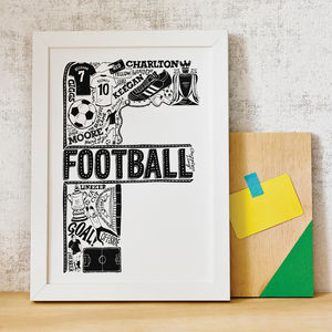 Football Print - gifts under £25 for him