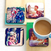 Set Of Four Personalised Drinks Coasters - christmas