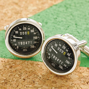 Personalised Speedometer Cufflinks - gifts for grandfathers