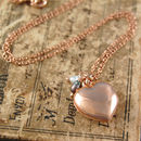 Rose Gold Heart Locket Necklace