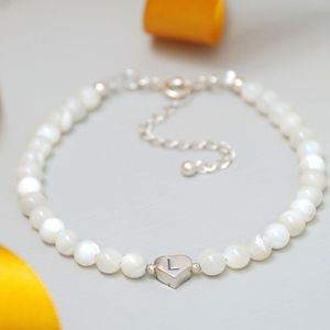 Personalised Birthstone And Silver Heart Bracelet