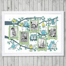 Blue, green baby growth frame