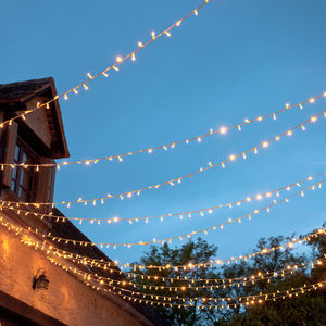 240 Connectable Outdoor Fairy Lights - autumn evenings