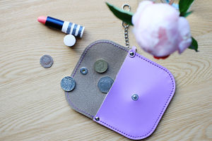 Personalised Leather Coin Purse - purses & wallets