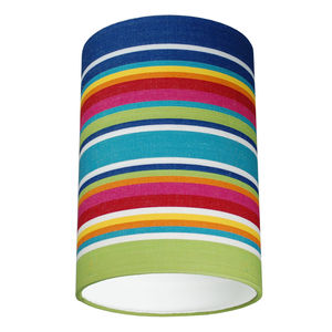 Shaldon Multi Colour Deckchair Stripe Lampshade - dining room