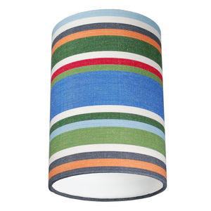Mansands Multi Colour Deckchair Stripe Lampshade - dining room