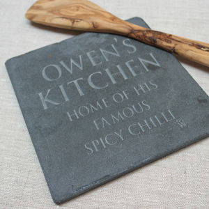 Personalised Slate Trivet - kitchen accessories