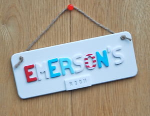 Bedroom Door Plaque - door plaques & signs