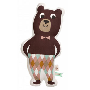 Mr Bear Organic Large Cushion - cushions