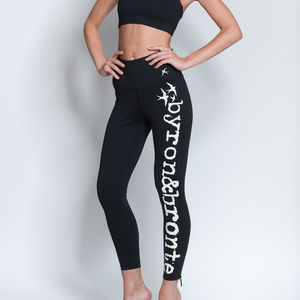 Logo Print Leggings - activewear