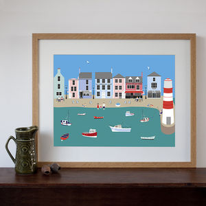 English Seaside Village Art Print