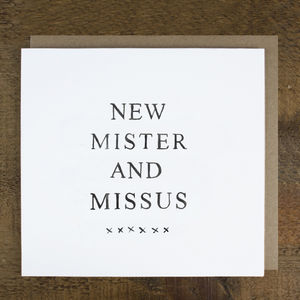 'New Mister And Missus' Card