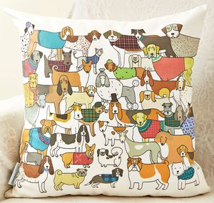 Pack Of Proud Pooches Cushion - patterned cushions
