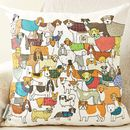 Pack Of Proud Pooches Cushion