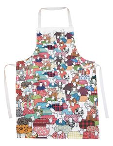 Flock Of Colourful Sheep Apron