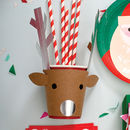 Christmas 'Be Jolly' Reindeer Cups