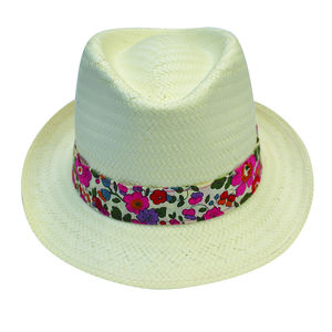 Panama Hat With Liberty Print Band - children's accessories