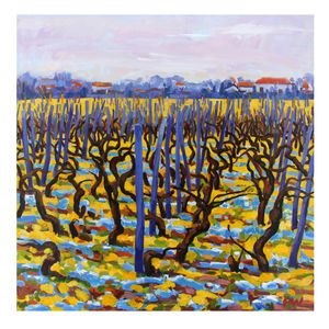 Blue Vineyard Print - contemporary art