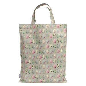 Pink Green Egg Large Shopping Bag