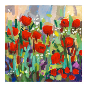 Red Tulips Print - contemporary art