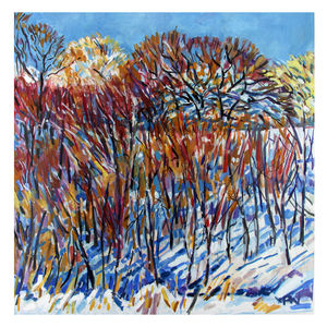 Winter Strokes Print - contemporary art