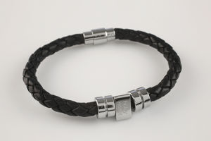 Men's Personalised Birthday Leather Bracelet - men's jewellery