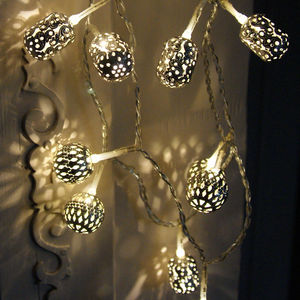 Silver Maroq Light Garland