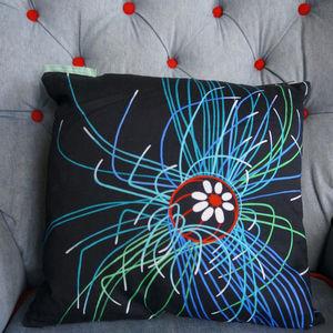 Ultraviolet Jellyfish Art Print Cushion Cover