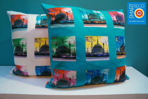 Pop Art Acid Pavilion Print Cushion Cover