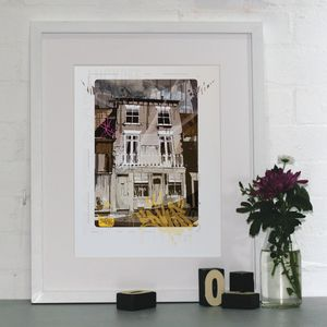 Personalised House Portrait - canvas prints & art