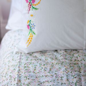 Mini Floral Double Duvet Cover - bedroom