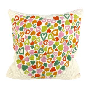Multicolour Heart Tapestry Cushion
