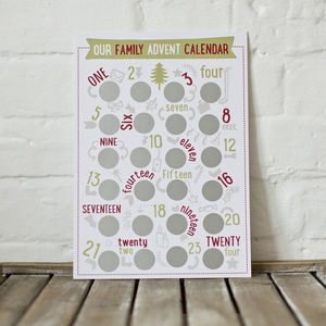 Family Activity Scratch And Reveal Advent Calendar - summer sale