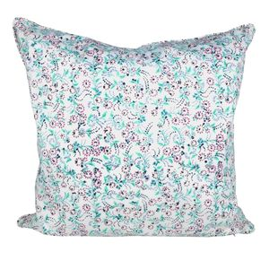Purple Mini Floral Cushion - living room