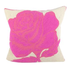 Two Tone Pink Rose Tapestry Cushion - patterned cushions