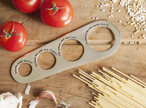 Personalised Silver Plated Spaghetti Measure - cooking & food preparation