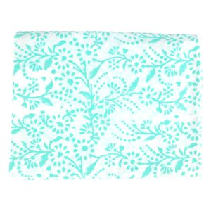 Turquoise Floral Tablecloth - bed, bath & table linen