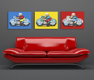 Pop Art Japanese Motorbike Canvas Print