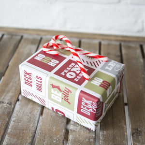 'Ho Ho Ho' Christmas Eco Wrapping Paper